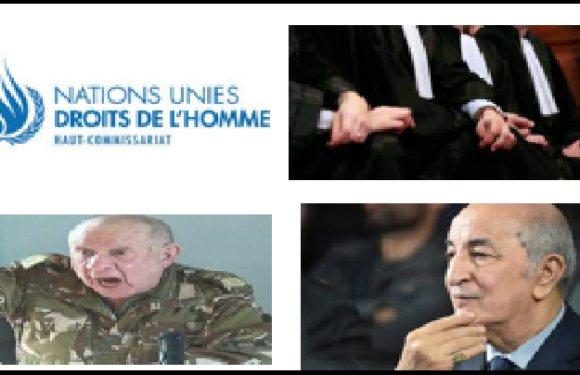 DEPOT DE PLAINTE A L'ONU CONTRE L'ALGERIE