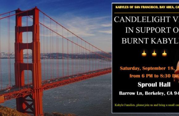 SAMEDI 18 SEPTEMBRE : VEILLÉE AUX CHANDELLES A SAN FRANCISCO EN SOUTIEN AUX VICTIMES DES INCENDIES EN KABYLIE