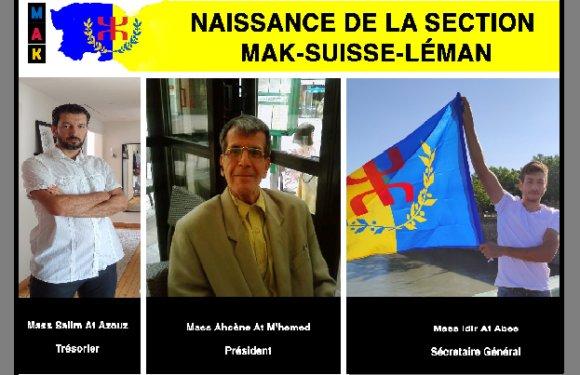 NAISSANCE DE LA SECTION MAK SUISSSE-LÉMAN