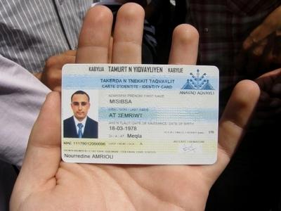 Carte Identite Algerienne Validite.Emission De La Carte D Identite Kabyle Dans La Diaspora A