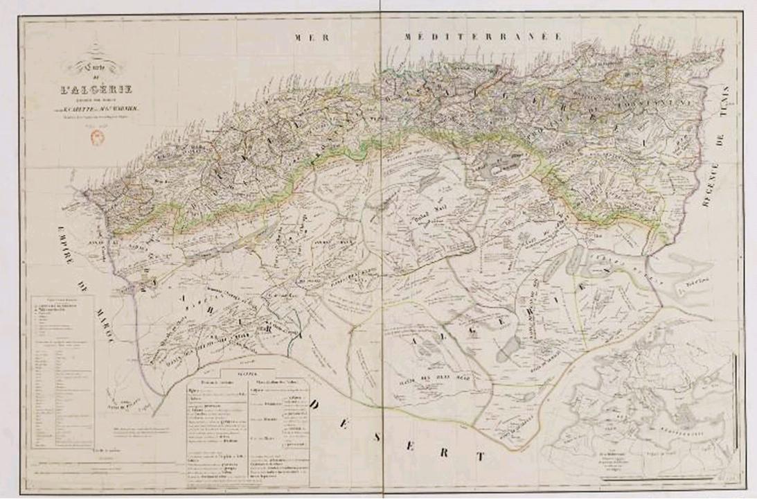Carte Geographique De Lalgerie.En 1839 Lorsque La France Inventa L Algerie La Kabylie Etait