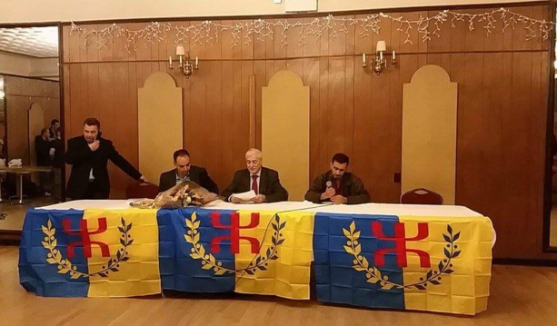 Ferhat Mehenni conference in New York at the event of the kabyle flag raising at UN
